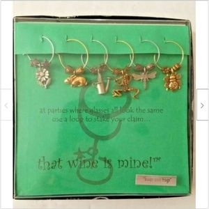 That Wine is Mine Drink Glass Charms Buds & Bugs